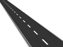Asphalt road. 3d illustration of asphalt road isolated over white background royalty free illustration