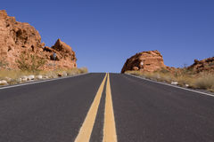 Asphalt road Royalty Free Stock Photos