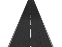 Asphalt road. 3d illustration of asphalt road isolated over white background Stock Image
