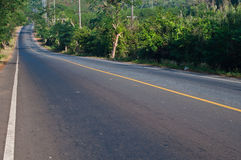 Asphalt road. In rural of thailand royalty free stock photography