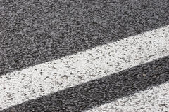 Asphalt road. And white stripe Stock Photo
