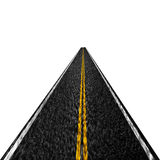 Asphalt road. That is disappearing into the distance royalty free illustration