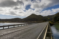 Asphalt road along state highway view from Mokau Rd at New Plymouth, New Zealand Stock Images