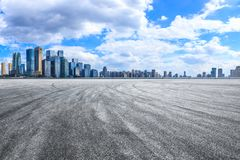Free Asphalt Road And City Skyline In Chongqing Stock Image - 160738201