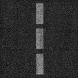 Asphalt road background with dashed line. Stock Photos