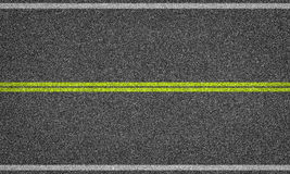 Asphalt road background with line marking. Royalty Free Stock Photos
