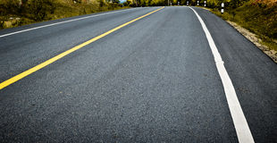 Asphalt road background Stock Images