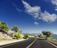 Asphalt road. blurred motion Royalty Free Stock Photography