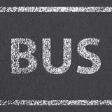 Asphalt road bus Stock Image