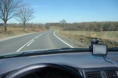 Asphalt road from car Stock Photo