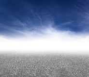 Asphalt road with cloud background Royalty Free Stock Photography
