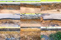 Asphalt road collapsed Royalty Free Stock Photo