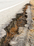 Asphalt road collapsed Royalty Free Stock Images