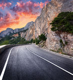 Asphalt road. Colorful landscape with beautiful winding mountain Royalty Free Stock Image