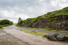 Asphalt road at connemara in ireland Stock Photography