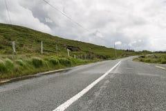 Asphalt road at connemara in ireland Royalty Free Stock Photography