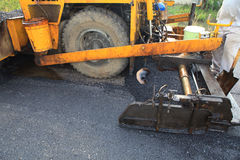 Asphalt Road Construction Fotos de archivo libres de regalías