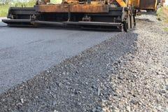 Asphalt road construction Stock Photo