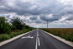 Asphalt road in the countryside Stock Image