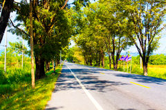Asphalt Road ,countryside Road,Thailand Stock Images