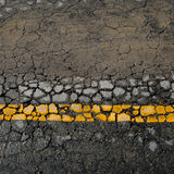 Asphalt road crack Stock Photos