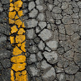 Asphalt road crack Stock Photo