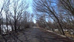 Asphalt Road criqué et cassé banque de vidéos