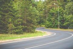 Asphalt road curve royalty free stock image