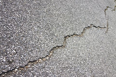 Asphalt road damaged Stock Photo