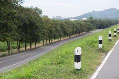 Asphalt road. Empty asphalt road with mountain background Stock Photos