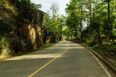Asphalt road. In Fang hot spring at Chiangmai, Thailand Stock Photography