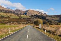 Asphalt road through the field Stock Photos