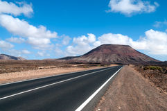 Asphalt Road in Fuerteventura Royalty Free Stock Image