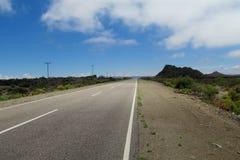 Asphalt road going straight Stock Photography