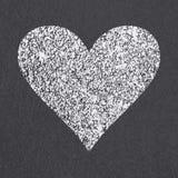 Asphalt road heart symbol Stock Photo