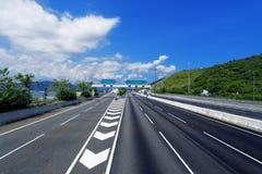 Asphalt road in Hongkong Royalty Free Stock Photos