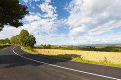 Asphalt Road inTuscany Stock Images