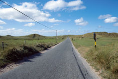 Asphalt road in Ireland countryside Royalty Free Stock Photos