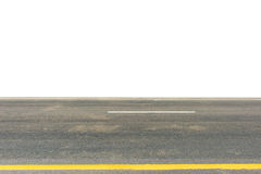 Asphalt road isolated on white. Side view of asphalt road isolated on white background.  This has clipping path Stock Photo