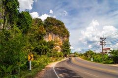 Asphalt road krabi Thailand Stock Photos