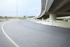 Asphalt road land bridge infra structure government public service Stock Image