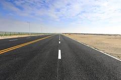New asphalt road, adobe rgb Stock Photo