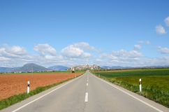 Spanish national road Royalty Free Stock Photography