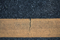 Asphalt road line yellow background. Stock Photography