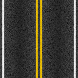 Asphalt road with marking lines Stock Photo