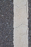 Asphalt road with marking lines and tire tracks Royalty Free Stock Photos