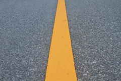 Asphalt road with marking lines and tire tracks Stock Photography