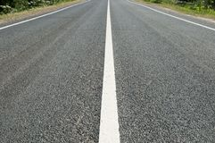 Asphalt road with marking Stock Image