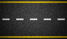 Asphalt road markings background Stock Photos