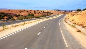 Asphalt road in Morocco Stock Image